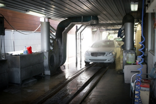 Car washes also provide waxing serivices.