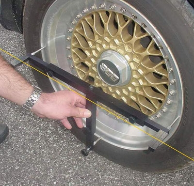 There are various tools for drivers who want to check their own wheel alignment