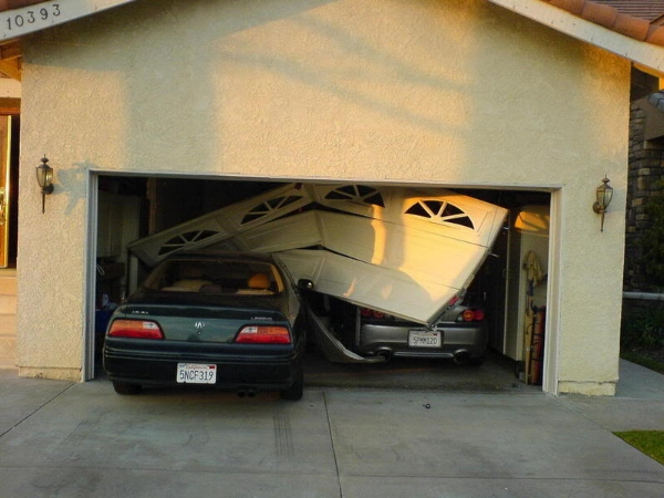 A crash into the garage can damage the car, the garage door, and even another car in the garage. No wonder it's so upsetting.
