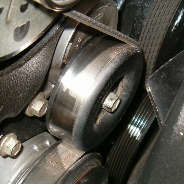 The tensioner keepr the serpentine belt (pictured here) at just the right tension to make the car run perfectly.
