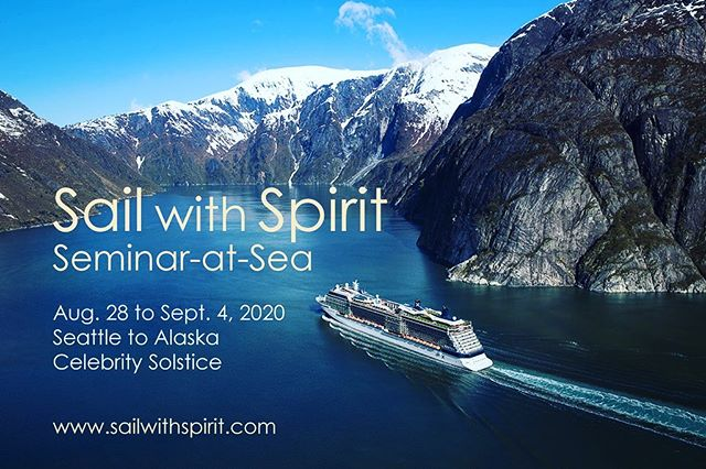 """I'm super excited to announce my participation in the """"Sail with Spirit Cruise!"""" You'll get to learn from yours truly, @susanshumskyauthor, Lisa Williams, Denise Linn, & more top spiritual teachers.  We're sailing Seattle to Alaska. Aug. 28 to Sept. 4 2020: register at www.sailwithspirit.com. Use """"Jaya Jaya Myra"""" in the referral section for a special on-board 1-to-1 session with me! 😁🙏 .... Register by November 1 for an extra discount! ... #wellness #spirituality #sailwithspirit  #mindbodysoul #consciousness #mindful #mindfulness #meditation #purpose #healthyliving #cruise #soulfood #wellnessliving #TheSoulofPurpose #passion #TheWELLMethod"""