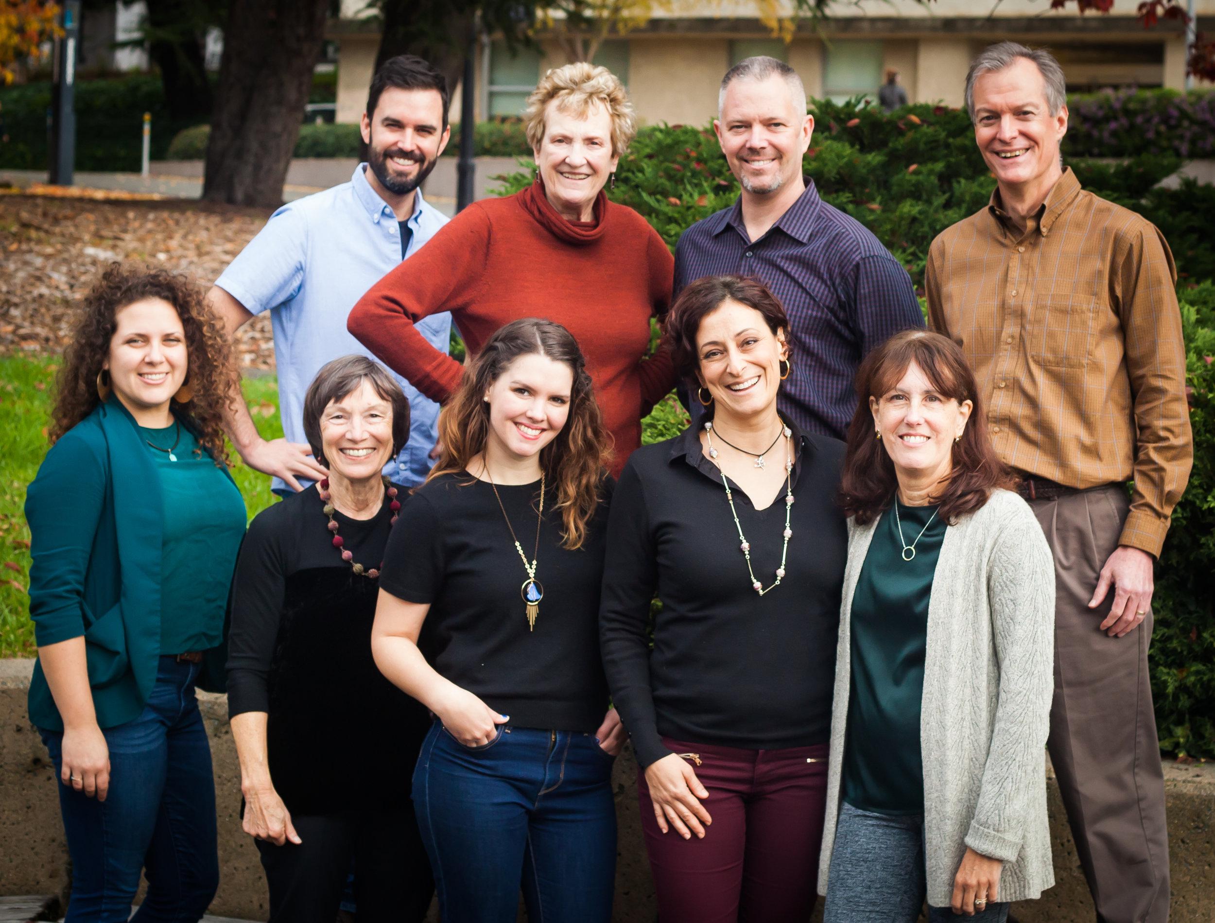 CoDA's team and board in December 2016  Front: (left to right) Lauren Matley, Meg Conkey, Kelley Shanahan, Cinzia Perlingieri, Robin Harper; Back:Michael Jennings, Ruth Tringham, Michael Ashley, Tim Gill