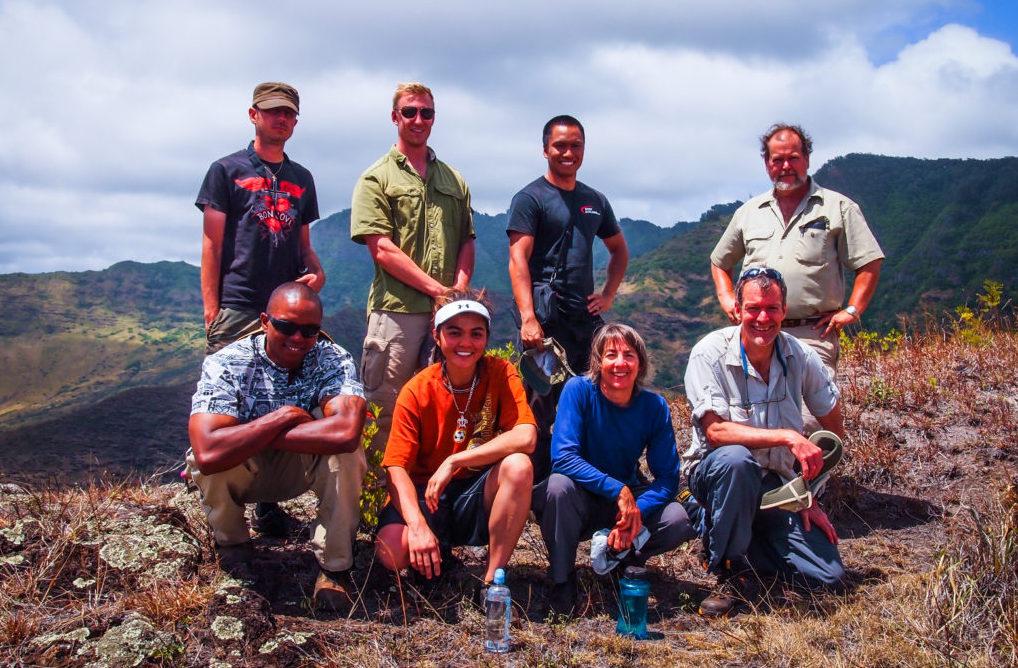 Excavation team at Palehua