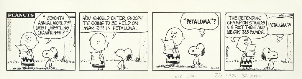 Charles M Schultz, Peanuts comic, 4-22-1968