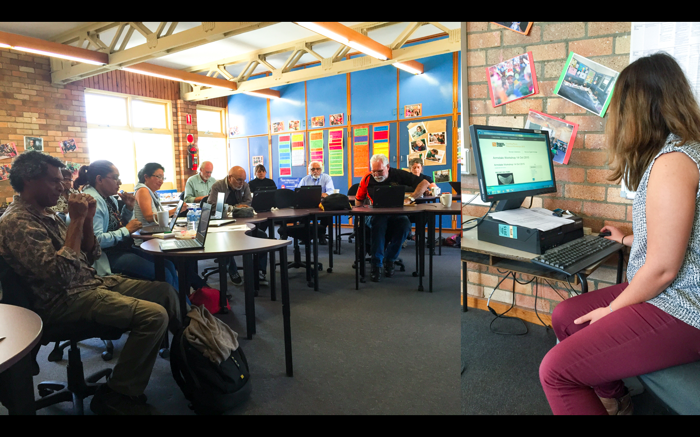 At a workshop in Armidale, New South Wales, Australia