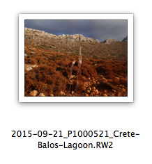 Example of Filename including picture creation timestamp and location description;