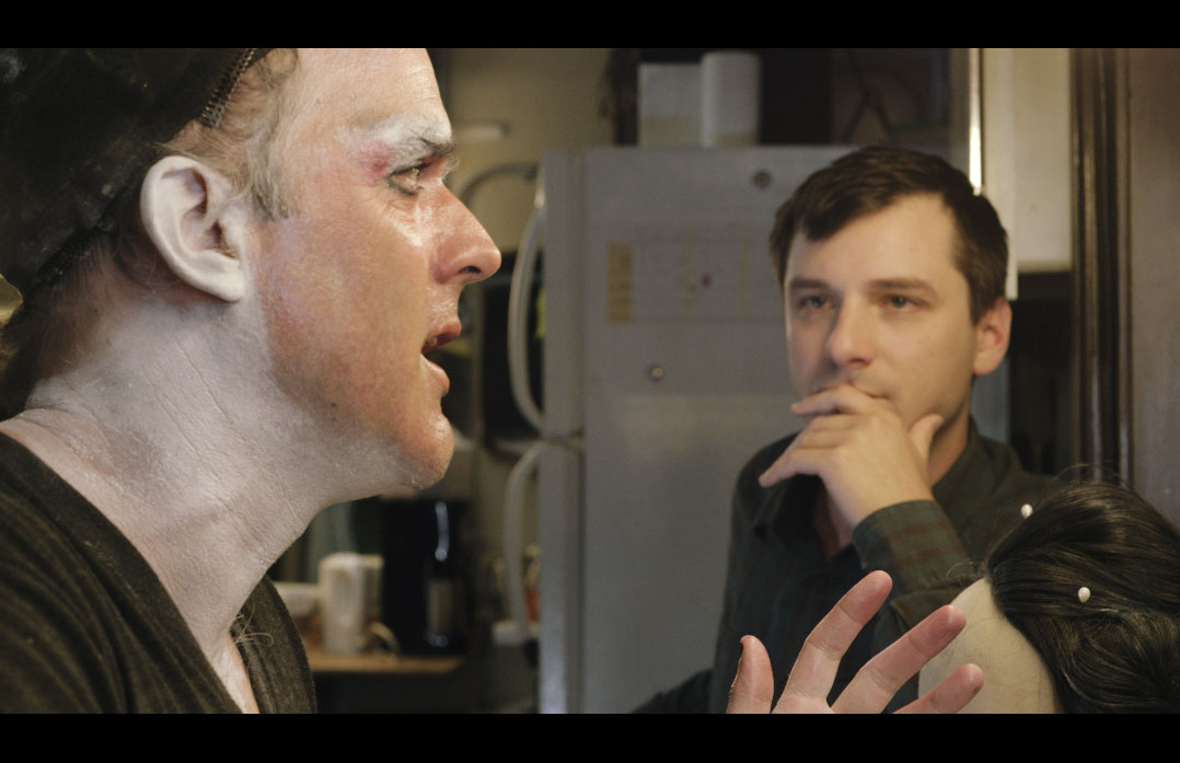 Brendan Dowling and Chris Woolsey in a scene from CURTAINS