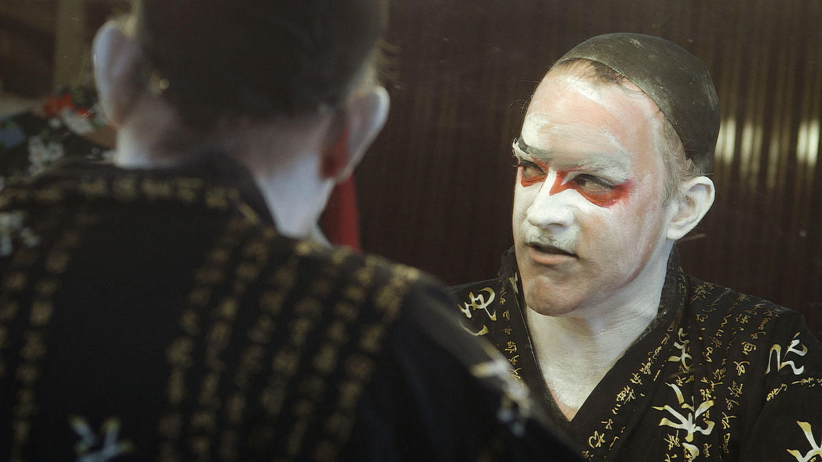 Brendan Dowling as fallen avant-garde legend Peter Fleming