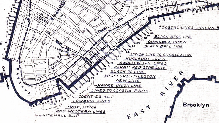 A map of the Port of New York on the south tip of Manhattan Island in 1851. When the 1883 tariff law went into effect, Edward L. Hedden was the collector at the port, and his decision to tax a load of imported tomatoes as vegetables made it all the way to the Supreme Court.