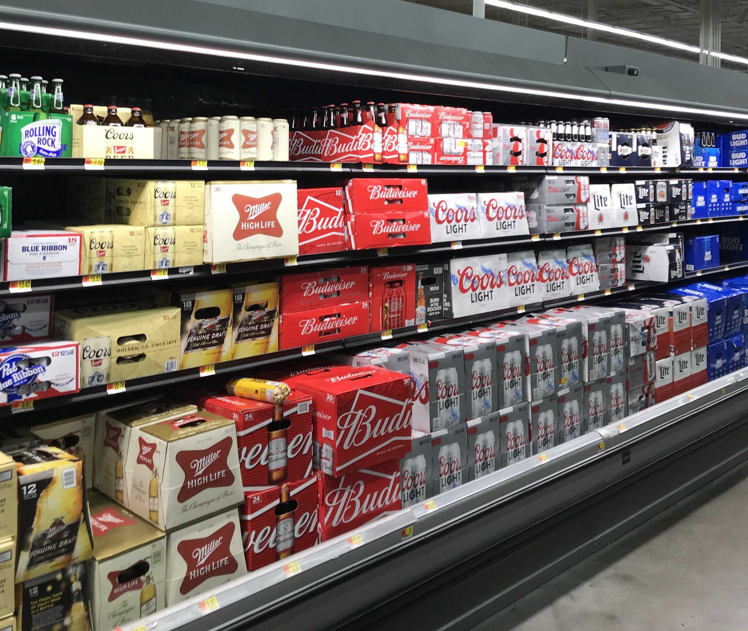 This is a picture of a grocery store's beer selection in Arizona. Let's keep our multitude of choices for consumers at liquor stores in Minnesota. -