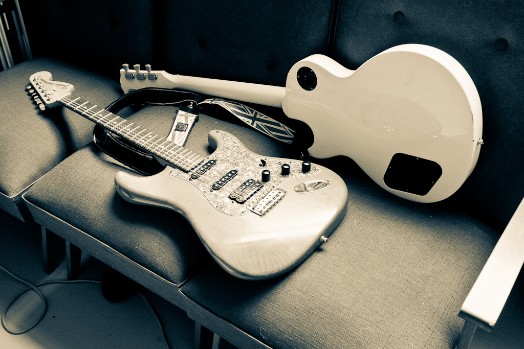 Guitars: Stratocaster and Les Paul