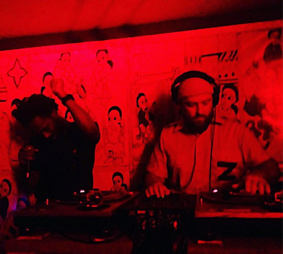 Memetic and Zattar in the mix at D'Afrique on Halloween 2016 // Photo Cred: Francois Levesque