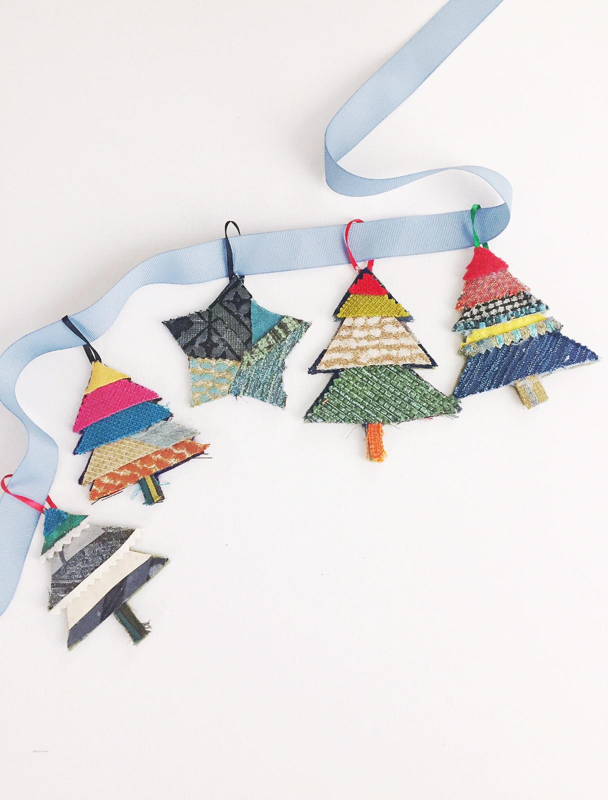 No Sew Handmade Fabric Ornaments Art Camp