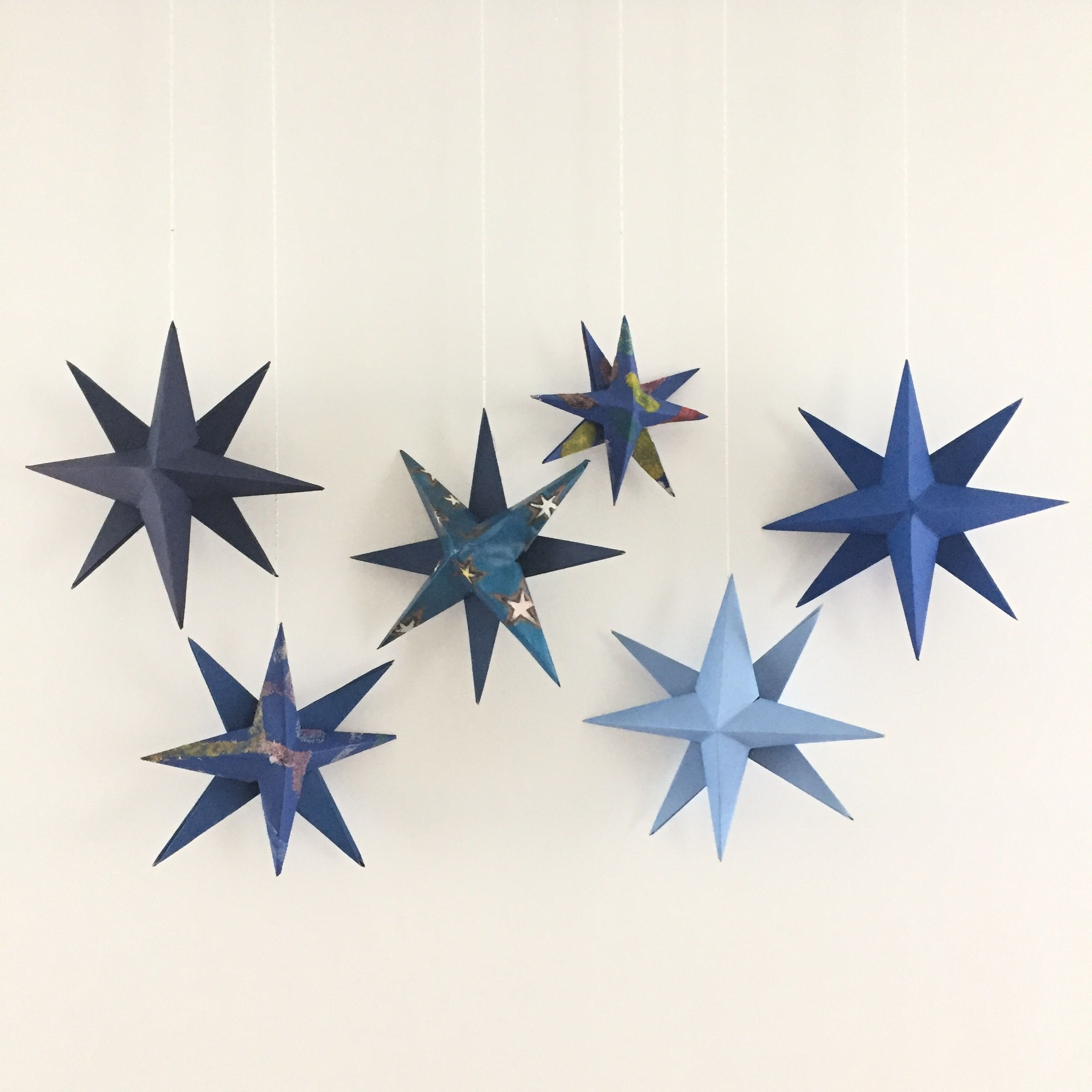 DIY handmade holiday star 1