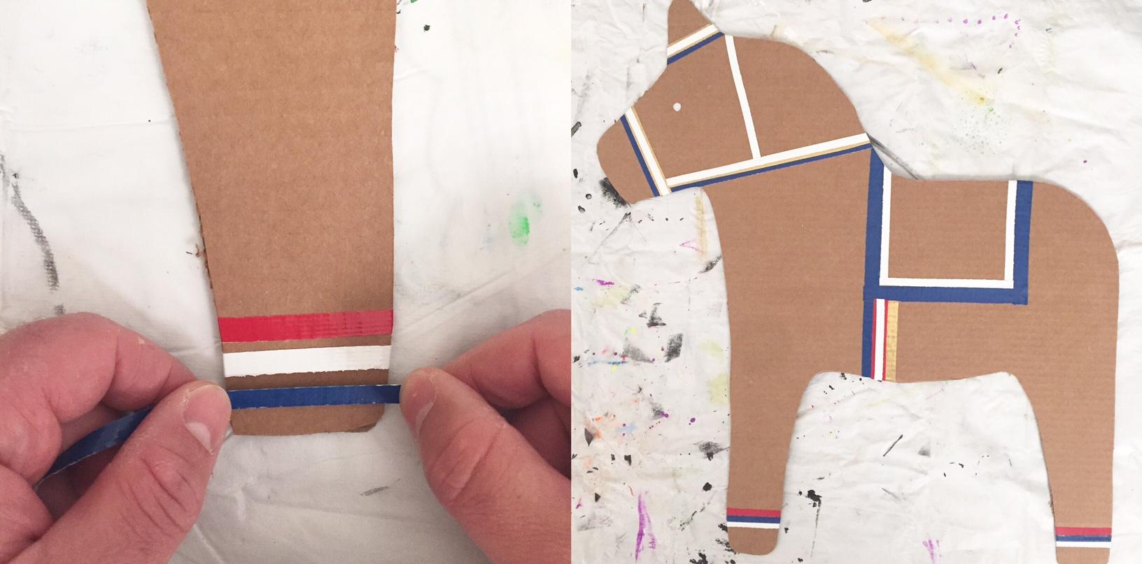 DIY Cardboard Dala Horse 8