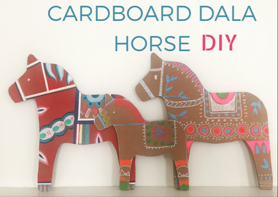 DIY Cardboard Dala Horse 12
