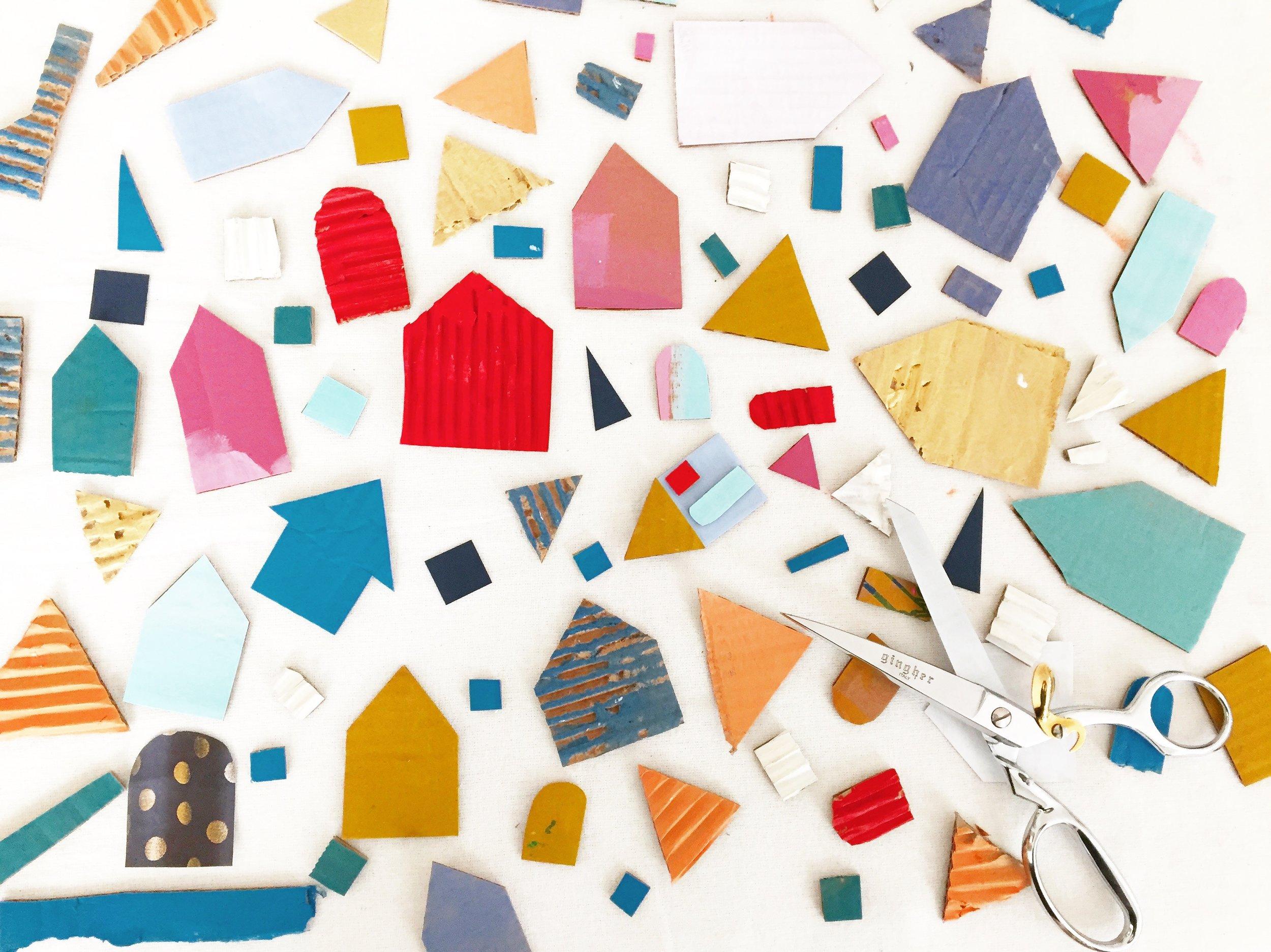 Cardboard House Ornament - 3