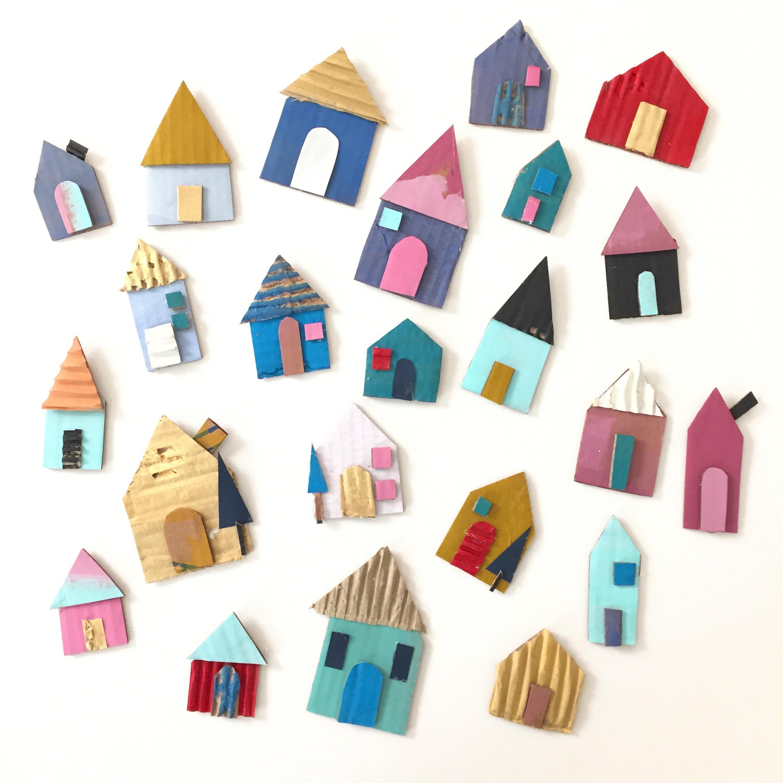 Cardboard House Ornament - 4