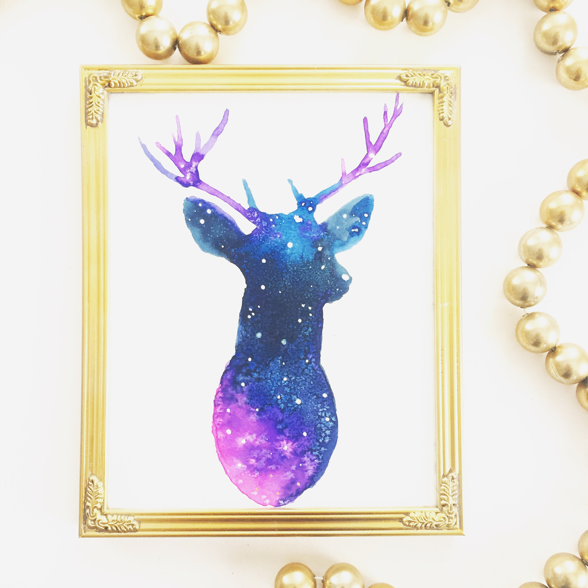 Galaxy Reindeer, made by Riley Rose - Age 10