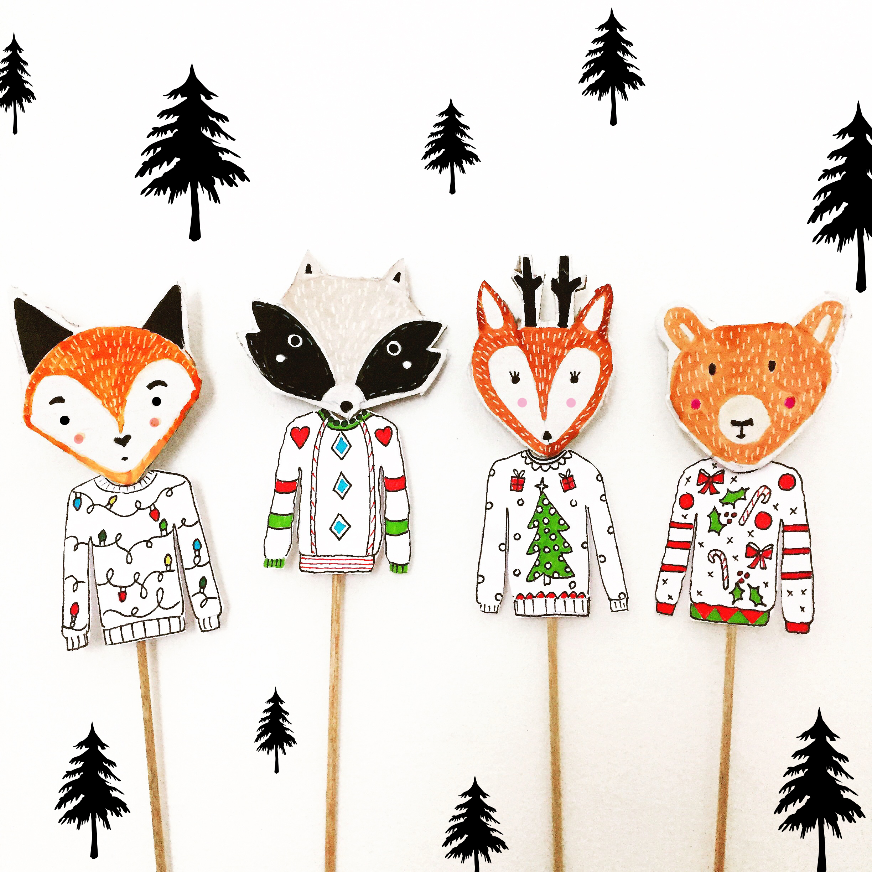 DIY Woodland Animal Puppets 1