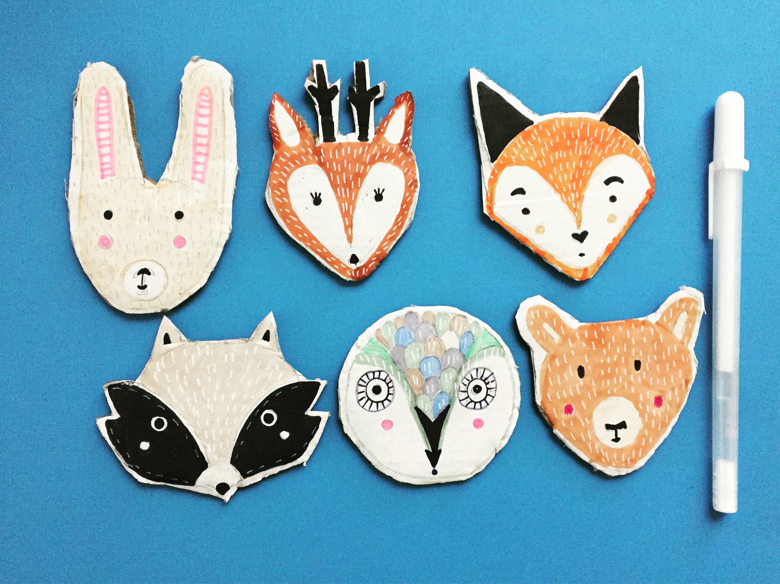 DIY Woodland Animal Puppets 11