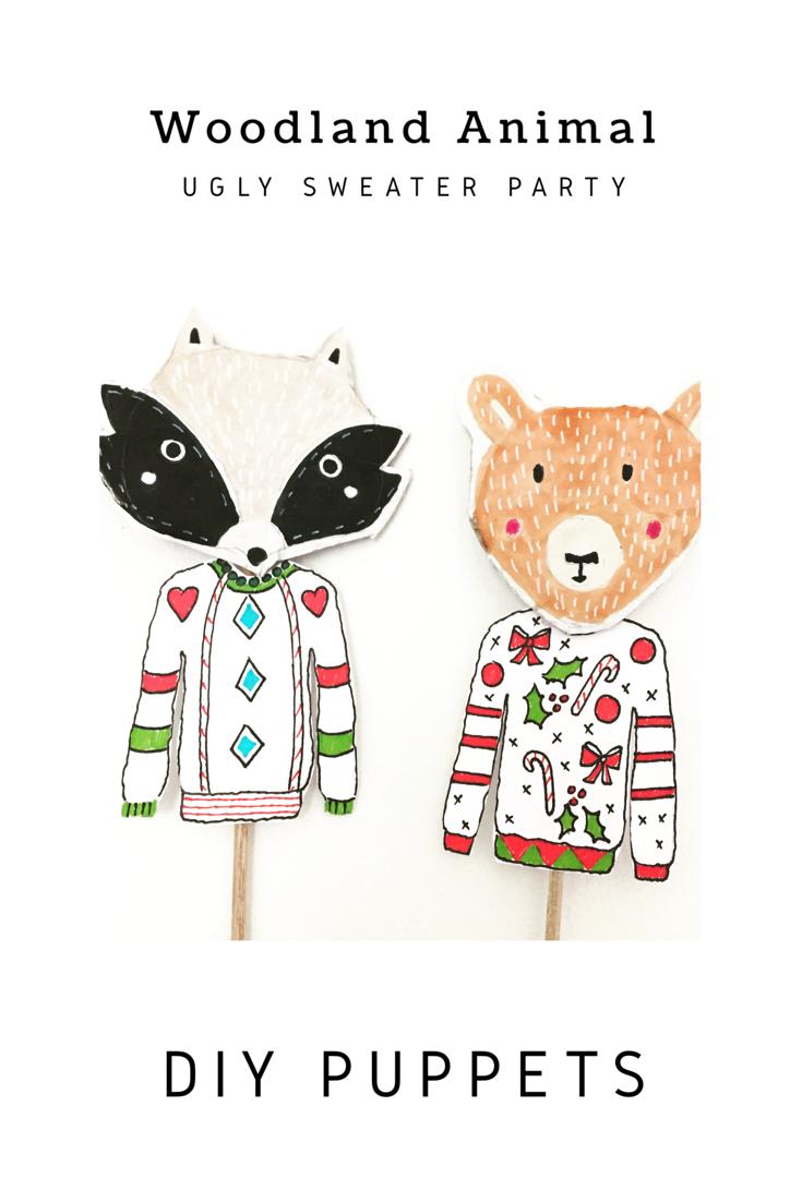 DIY Woodland Animal Puppets 13