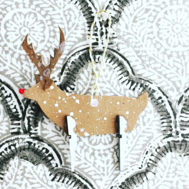 Clothespin Rudolph Ornament 10