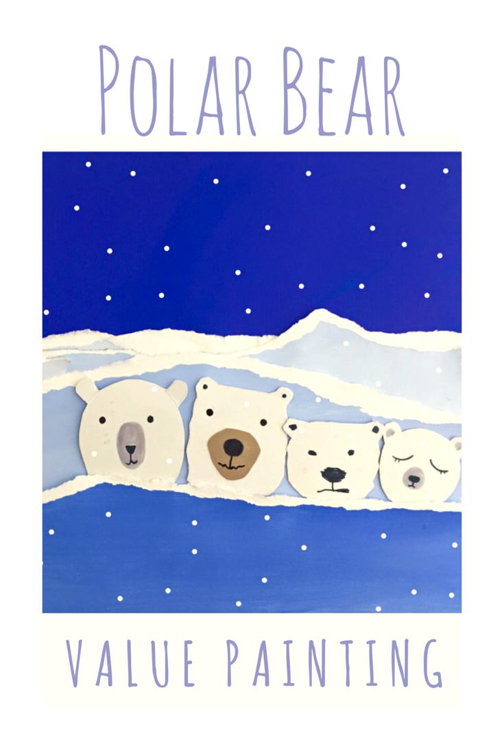 Polar Bear Value Painting 11
