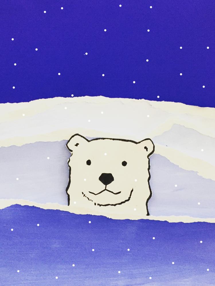 Polar Bear Value Painting 9