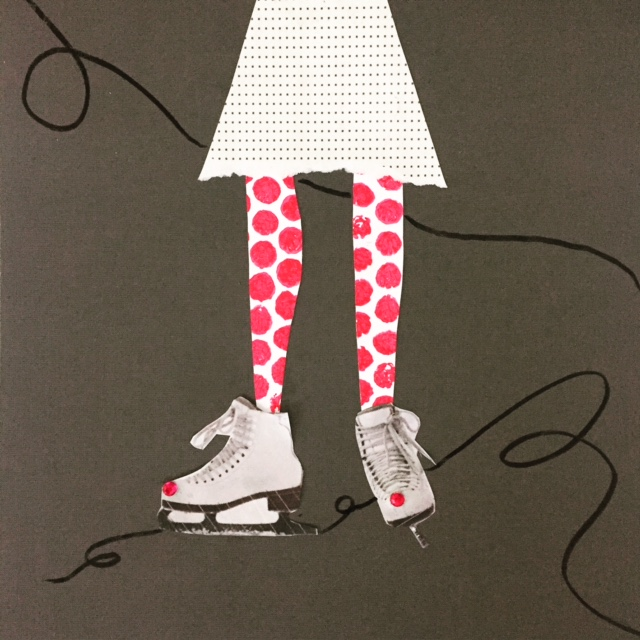 Mixed Media Ice Skater Collage 8