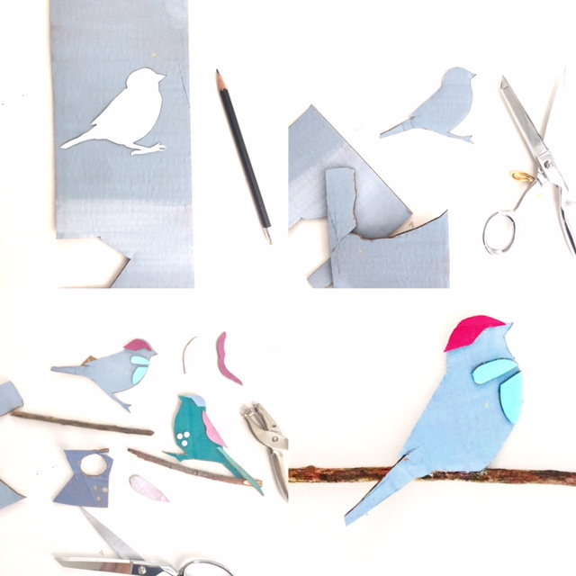 Cardboard Cars + Birds on Branches 3