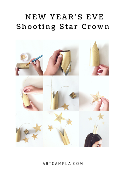 DIY New Year's Eve Crowns 7