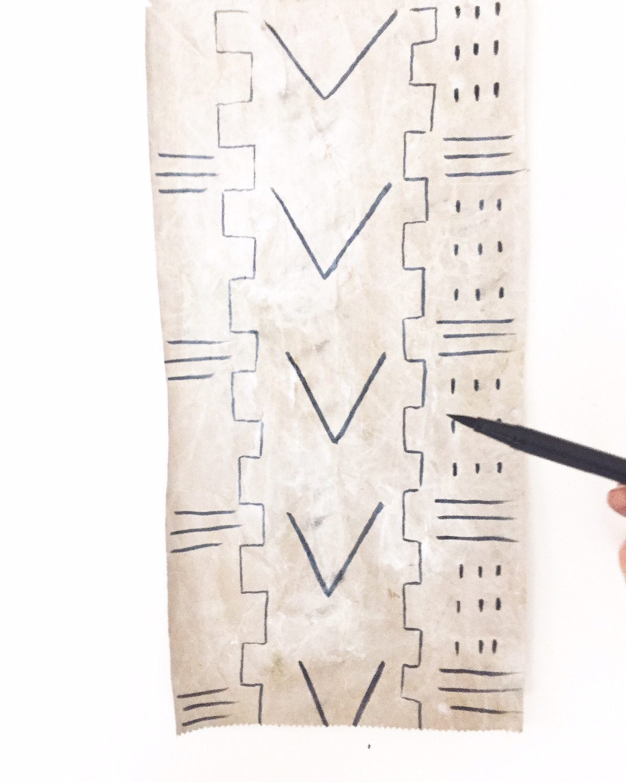 DIY Mud Cloth Wall Hanging 3