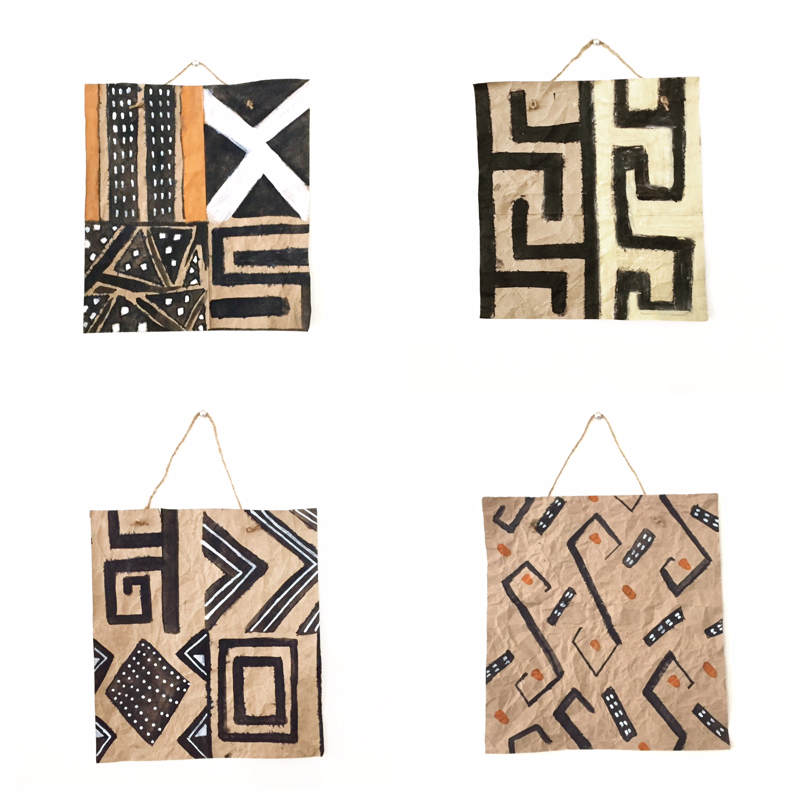 DIY Mud Cloth Wall Hanging 6