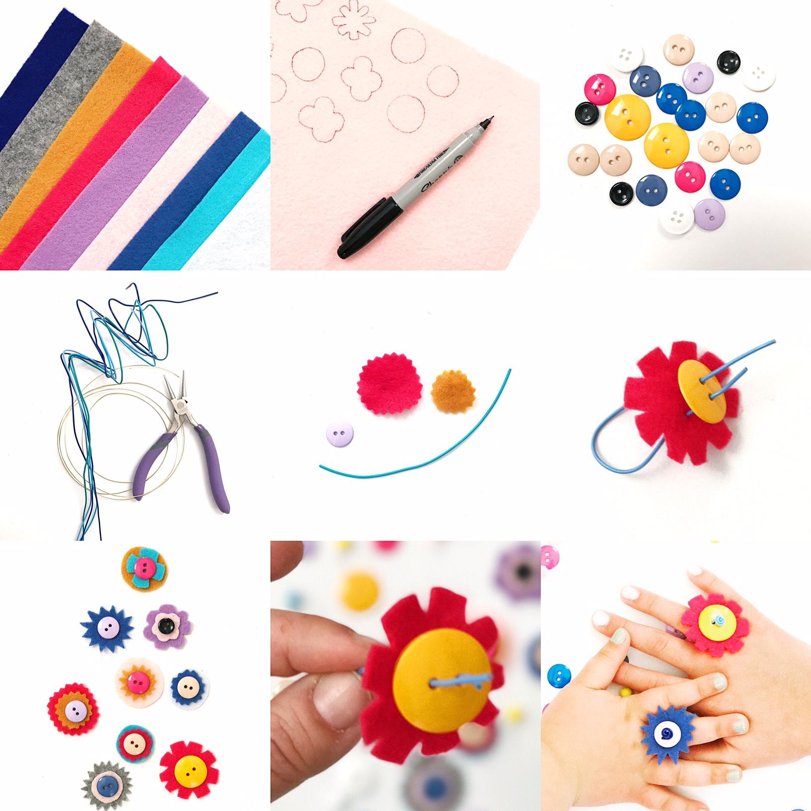 DIY Button Rings 3