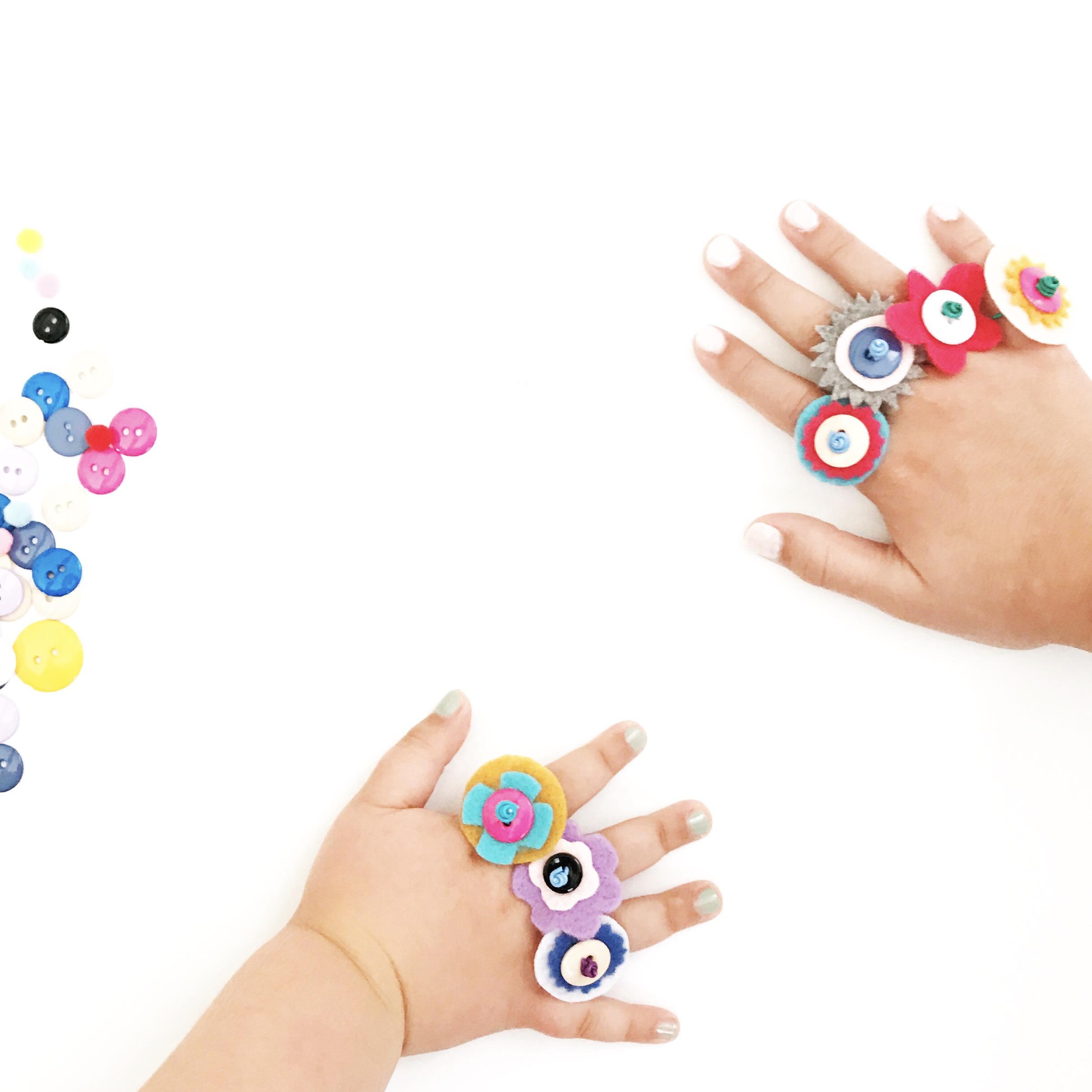 DIY Button Rings 1