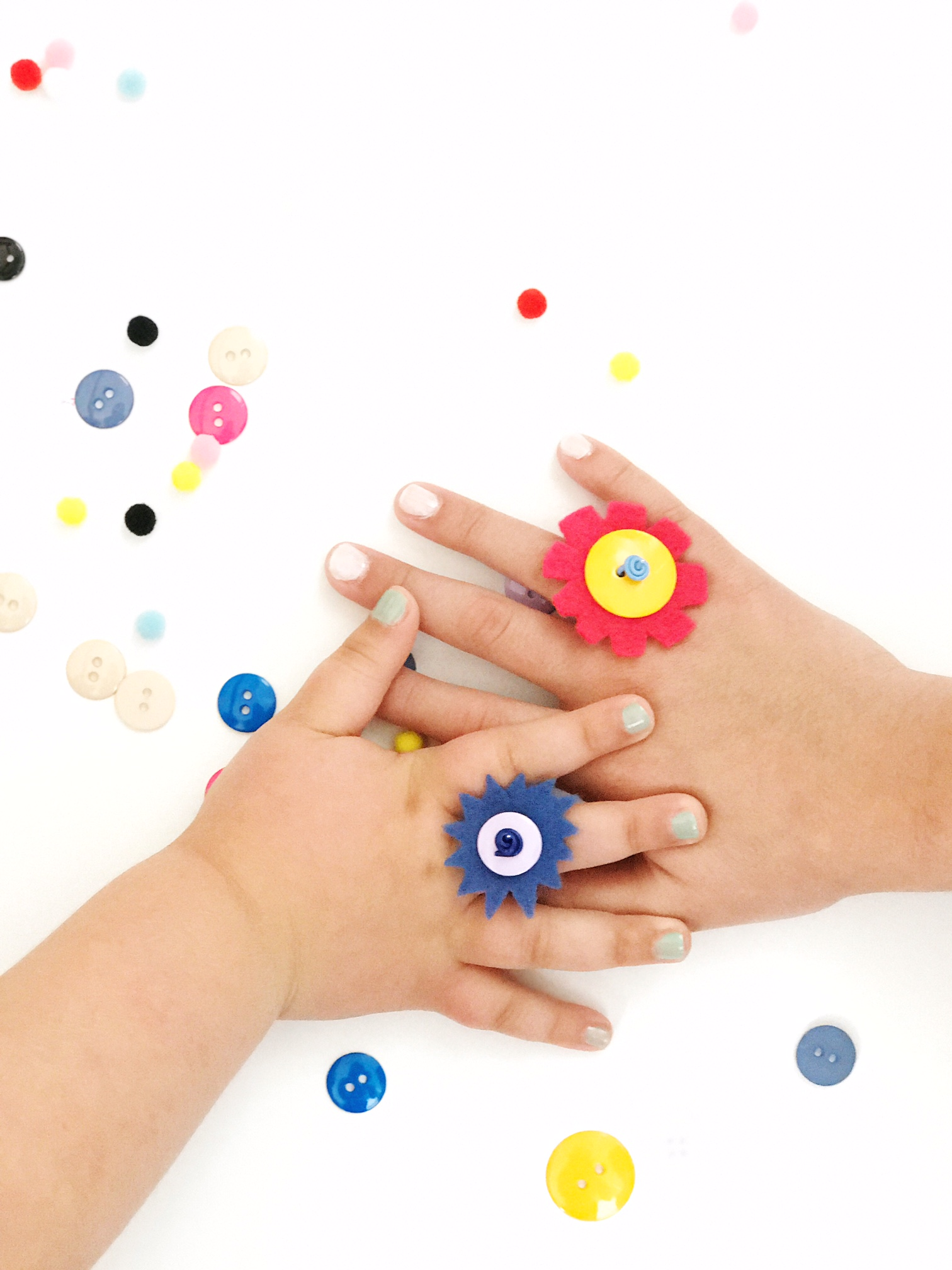 DIY Button Rings 6