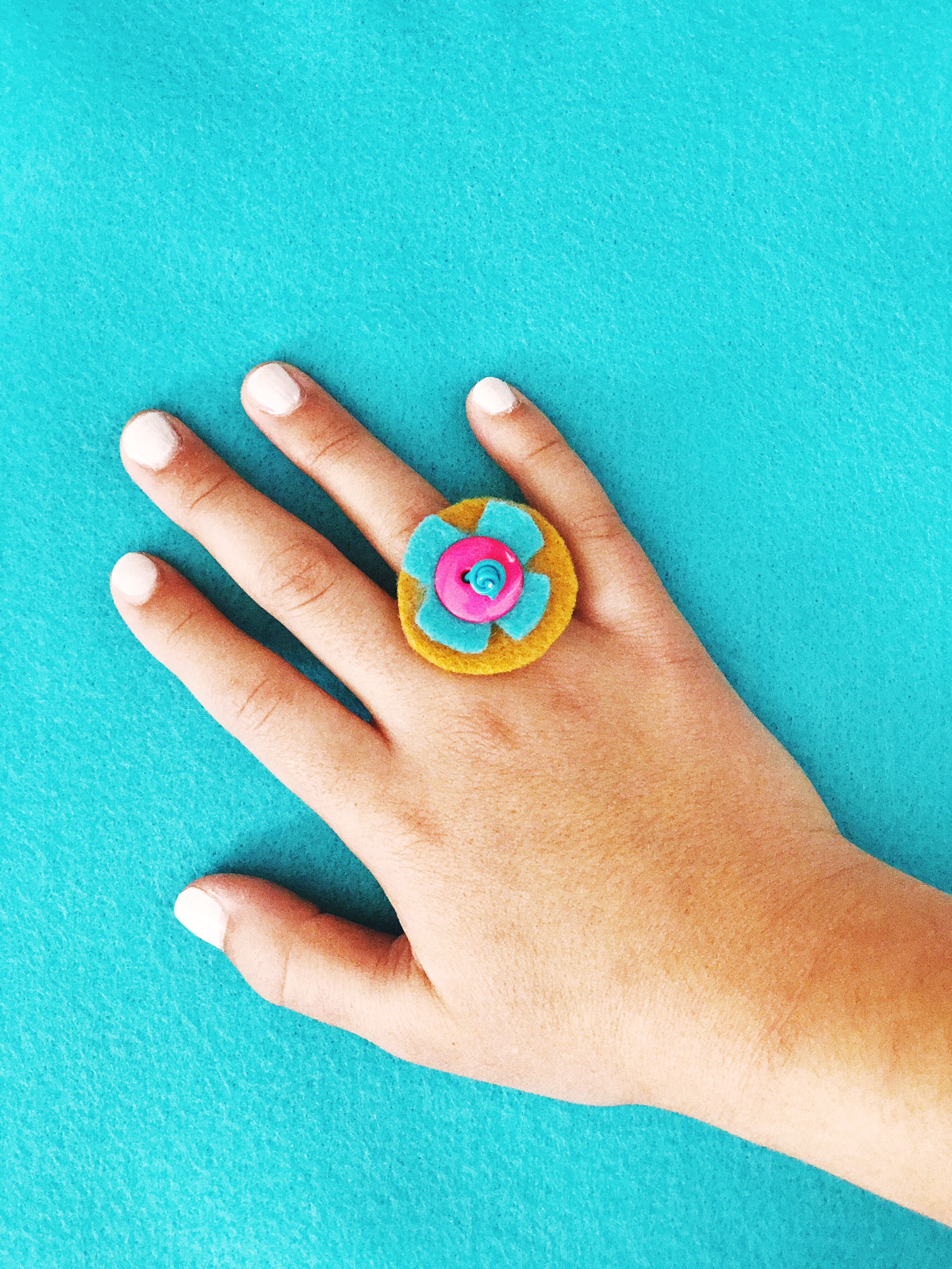 DIY Button Rings 7