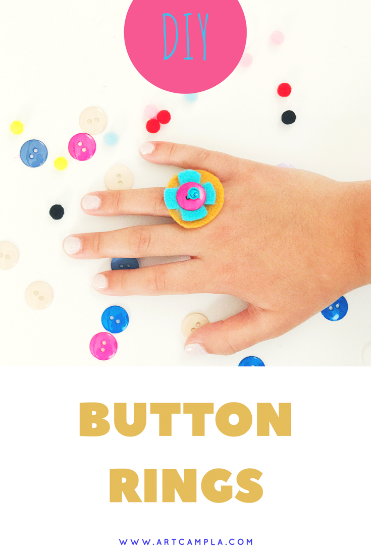 DIY Button Rings 8