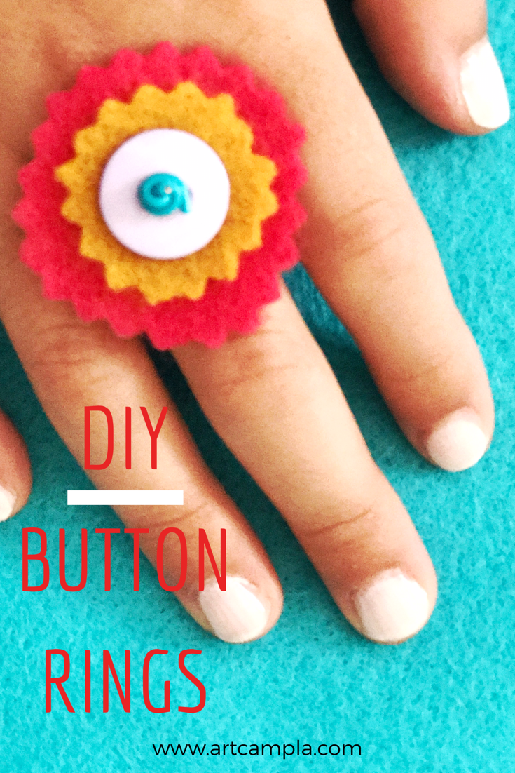 DIY Button Rings 9