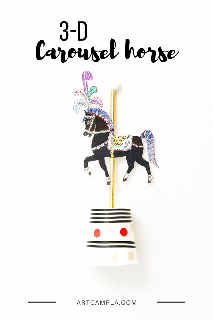 3-D Carousel Horse 9