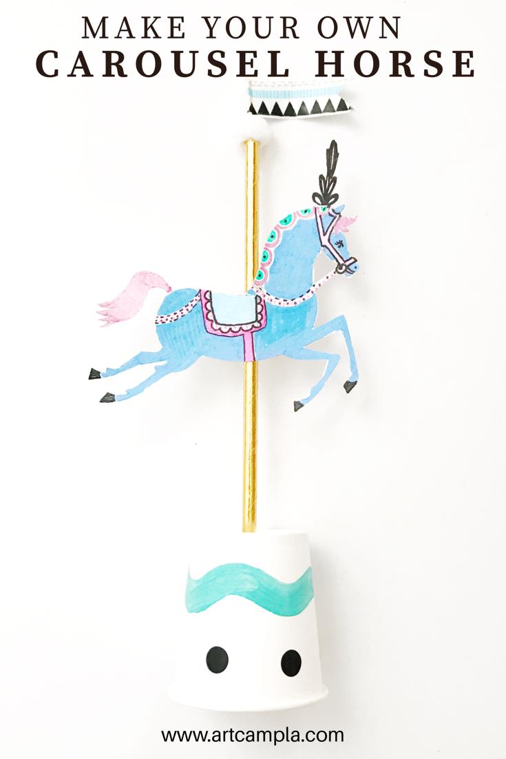 3-D Carousel Horse 10