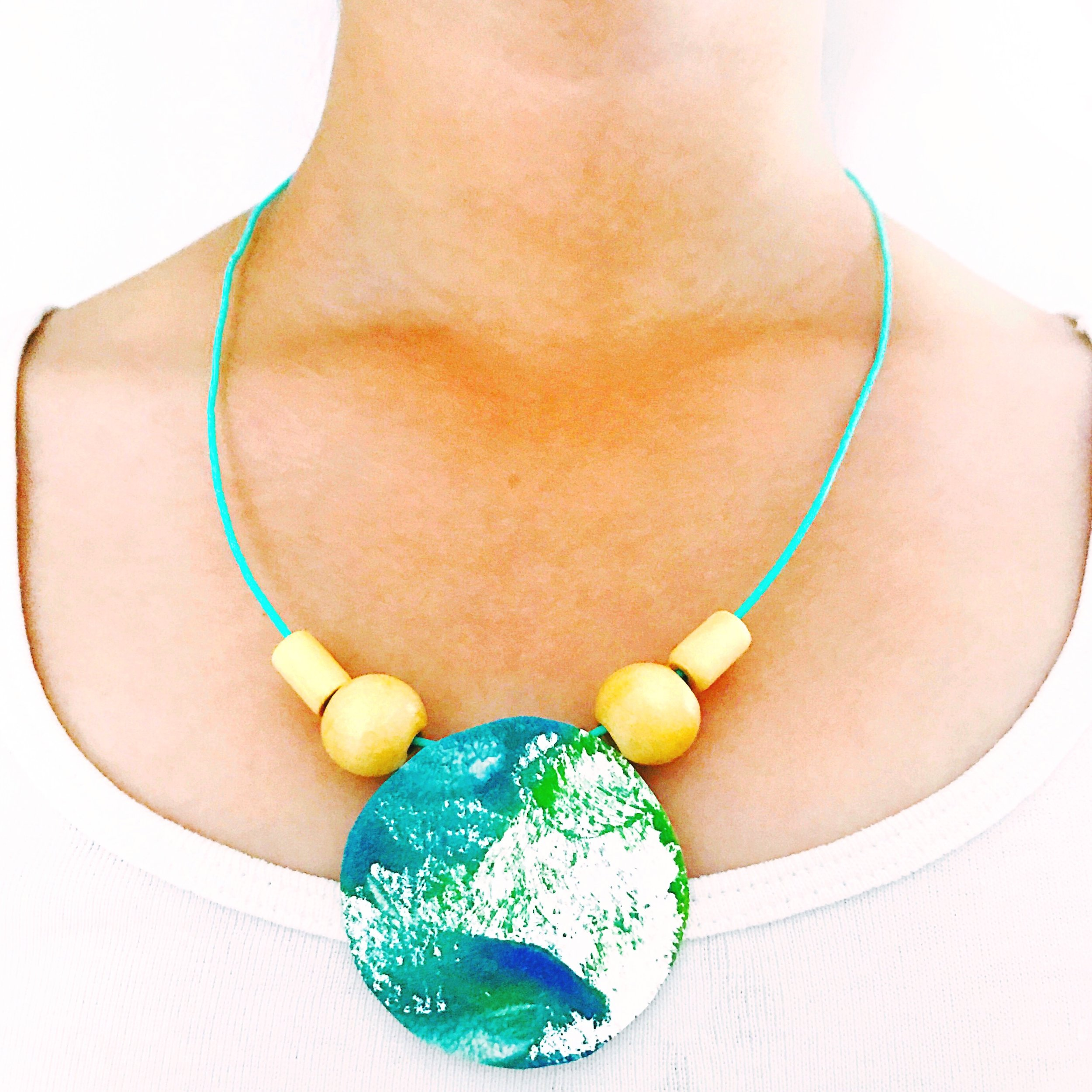 DIY EARTH DAY NECKLACE