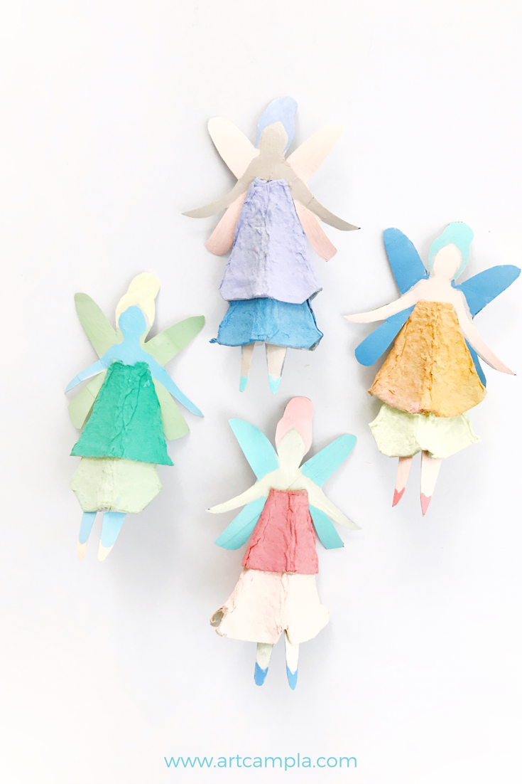 Egg Carton Fairy Dolls 16