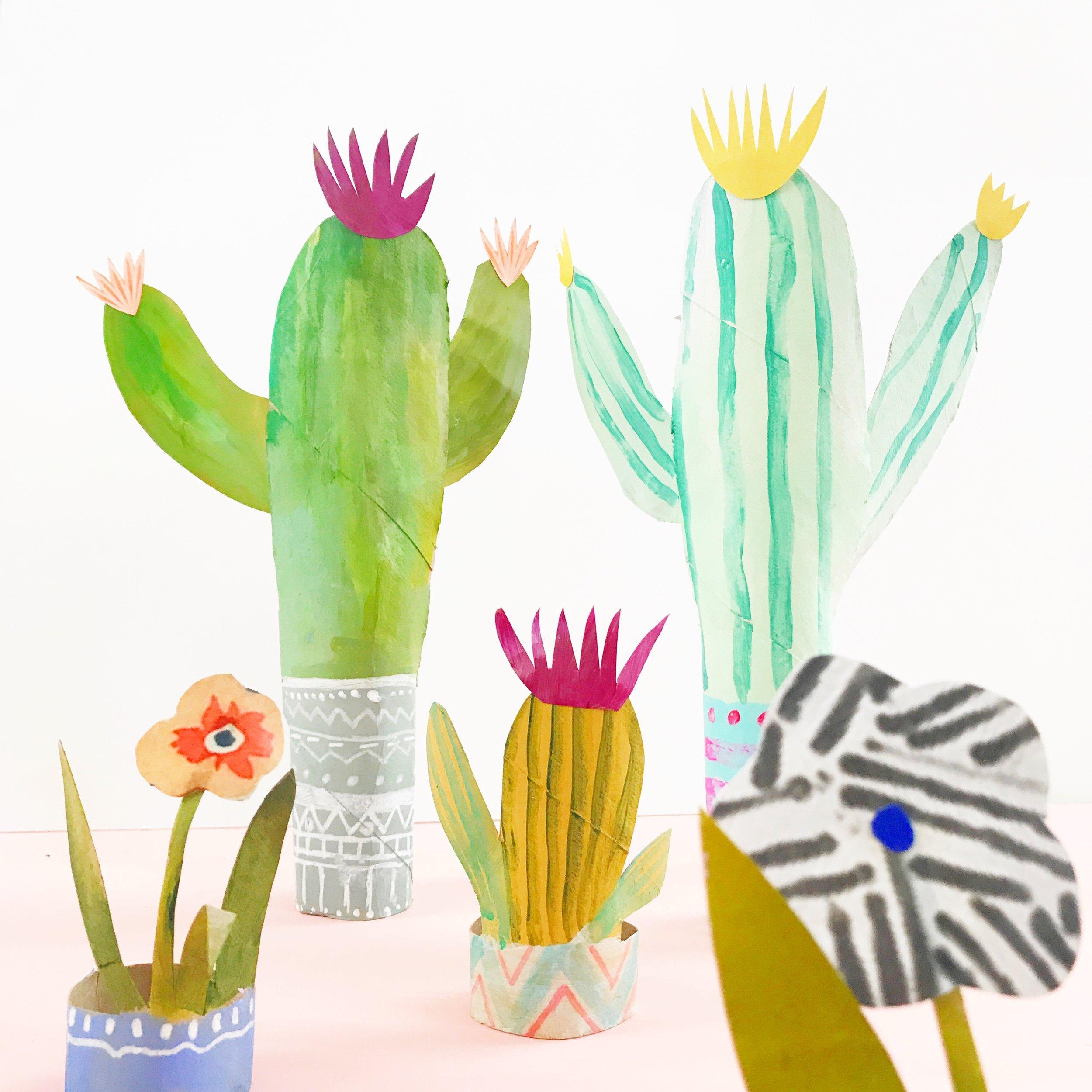 Paper Roll Cactus 1