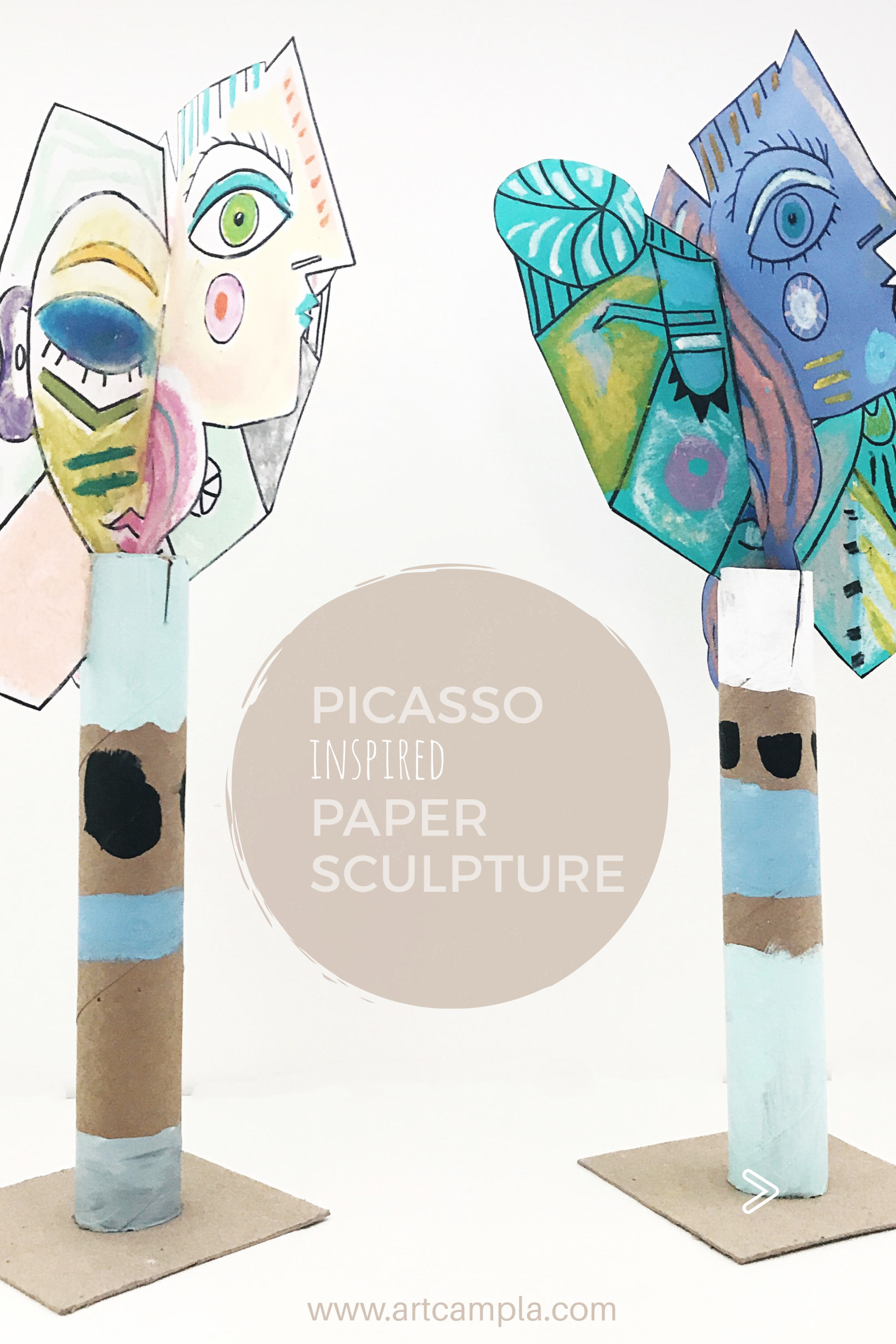 Picasso Style Paper Sculpture 13