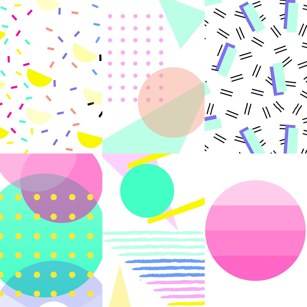 80s Collage Printables Art Camp