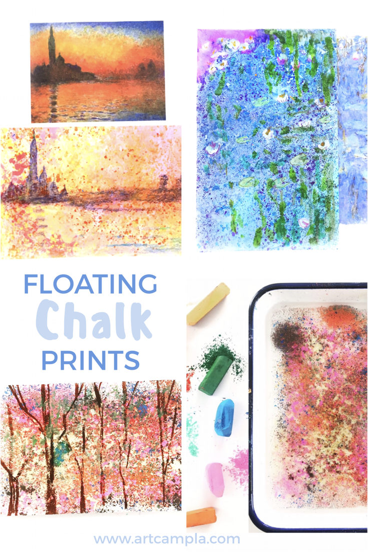 Floating Chalk Impressionist Paintings