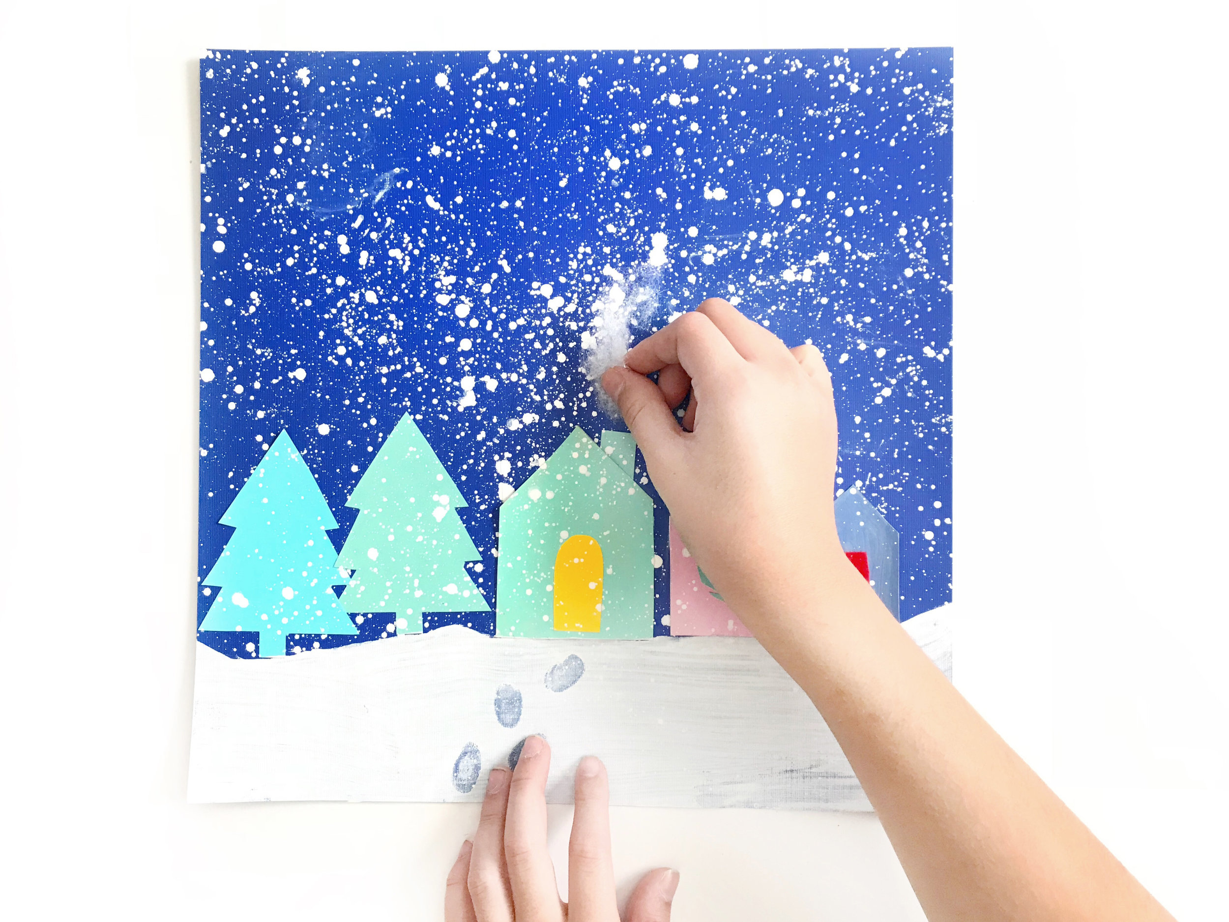 HOLIDAY SPLATTER PAINTING