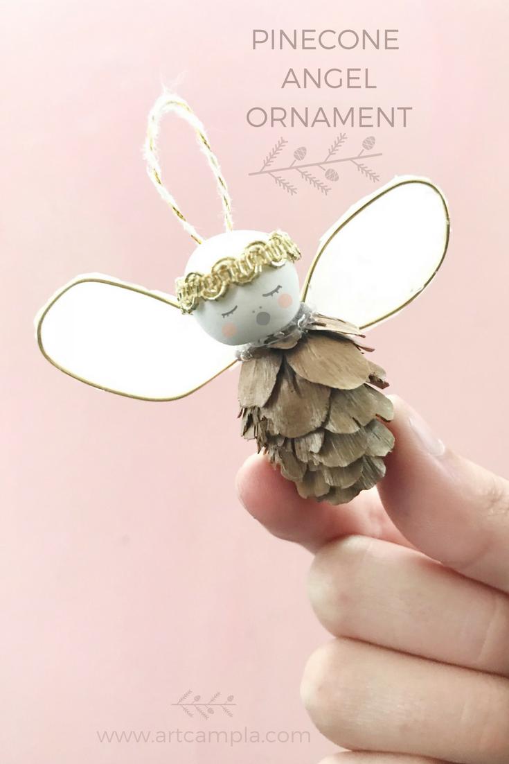 PINECONE ANGEL ORNAMENT